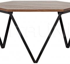 Hexagon Coffee Table, Walnut and Metal GTAB1013MT
