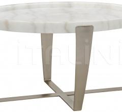 Ennio Coffee Table, Antique Silver, Metal and Stone GTAB1017ASV