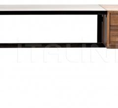 Algeron Desk, Metal and Walnut GDES144MT