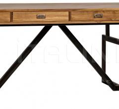 Maxwell Desk Teak w/Metal Base GDES145MT