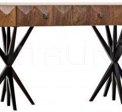 Gemma Desk, Dark Walnut, Walnut and Metal GDES151MT