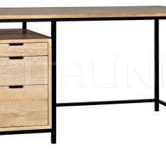 Nabucco Desk, Bleached Walnut w/Metal GDES164BW