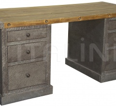 Hammered Zinc Desk, Old Wood GDES804OW
