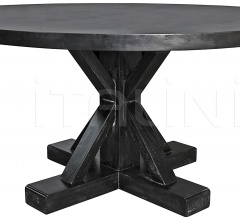 """Criss-Cross Round Table, 60"""", Hand Rubbed Black GTAB419HB"""