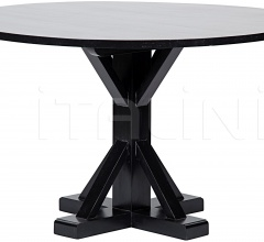"""Criss-Cross Round Table, 48"""", Hand Rubbed Black GTAB419HB-48"""