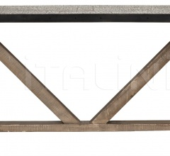 QS X Base Table with Hammered Zinc GTAB432