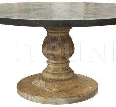 QS Zinc Top Table, Old Wood GTAB445