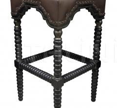 Abacus Bar Stool, Hand Rubbed Black w/ Gold Trim GSTOOL202GHBL
