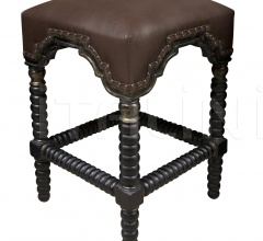 Abacus Counter Stool, Hand Rubbed Black w/ Gold Trim GSTOOL202GHBS