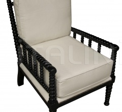 QS Abacus Relax Chair, Distressed Black SOF109D1