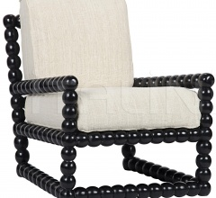 Lorde Lounge Chair, Hand Rubbed Black SOF261HB
