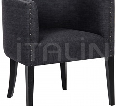 Dede Lounge Chair, Hand Rubbed Black SOF275HB
