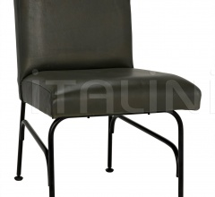 Oplus Dining Chair, Rustic Finish, Green Leather AF-24R