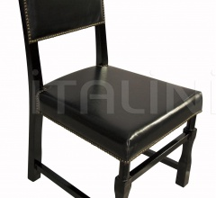 Leather Square Chair, Black GCHA106