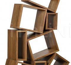 Cubist Bookcase, Dark Walnut GBCS156DW