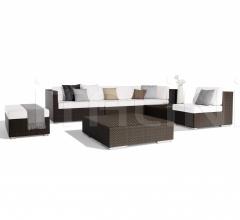 Итальянские пуфы - Пуф Lounge Footstool фабрика Dedon