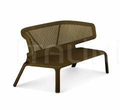 Двухместный диван Seashell фабрика Dedon