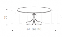Стол обеденный DIDYMOS Driade
