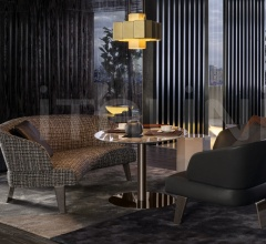 "Диван Creed ""Semi-round Lounge Sofa"" фабрика Minotti"