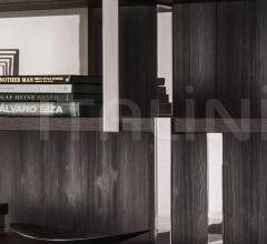 Итальянские стеллажи - Книжный стеллаж Dalton Chrome фабрика Minotti