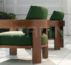 Итальянские уличные кресла - Кресло Warhol Iroko Outdoor фабрика Minotti
