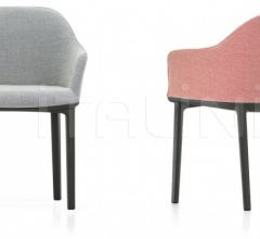Стул с подлокотником Softshell Chair фабрика Vitra