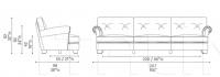 Трехместный диван Dream On Poltrona Frau