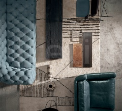 Итальянские ковры - Ковер BERBERE NATURAL + BLACK | PATTERN A фабрика Baxter
