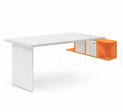 Итальянские письменные столы - Письменный стол Desk with Luce wall unit фабрика Nidi
