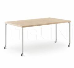 Итальянские письменные столы - Письменный стол Desk with Move legs фабрика Nidi