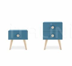 Итальянские тумбочки - Тумбочка Woody bedside table фабрика Nidi
