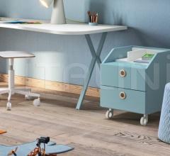 Итальянские тумбочки - Тумбочка Wilson bedside table with castors фабрика Nidi