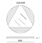 Настенное зеркало Balin, Elmo, Galdor, Tareg IPE Cavalli (Visionnaire)