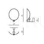 Настенный светильник Akira IPE Cavalli (Visionnaire)