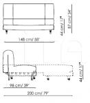 Диван-кровать Aurora Bonaldo