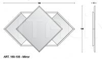 Консоль CONSOLE WITH MIRROR Vismara Design