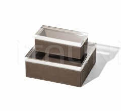 Итальянские аксессуары для интерьера - Ящик для хранения Leather Case фабрика Poltrona Frau
