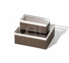 Итальянские аксессуары для интерьера - Коробка для хранения Leather Case фабрика Poltrona Frau