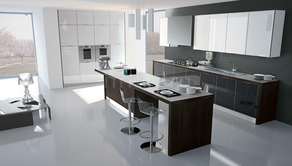 Кухня Vitra Bianco/Antracite Ar Tre