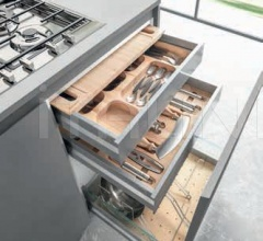 Итальянские кухни с островом - Кухня G30 01 фабрика Arredamenti TreO