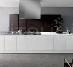 Итальянские кухни с островом - Кухня Mito 01 фабрика Arredamenti TreO