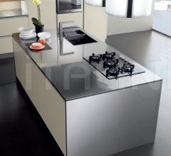 Итальянские кухни с островом - Кухня Mito 03 фабрика Arredamenti TreO
