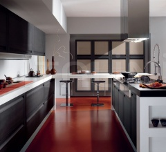 Итальянские кухни с островом - Кухня Maya 08 фабрика Arredamenti TreO