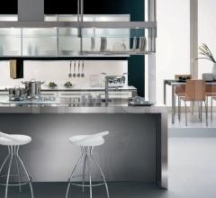 Итальянские кухни с островом - Кухня Asia 04 фабрика Arredamenti TreO