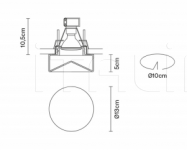 Потолочный светильник Faretti D27 Blow Fabbian