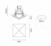 Потолочный светильник Faretti D27 Cheope Fabbian