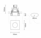 Потолочный светильник Faretti D27 Lui Fabbian