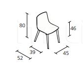 Стул slim chair wood Alias