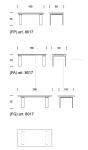 Фиксированный стол Cannaregio 8017 Tonin Casa