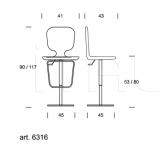 Барный стул New York 6316 Tonin Casa